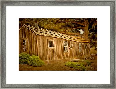 Point Lobos Whalers Cabin Framed Print by Barbara Snyder