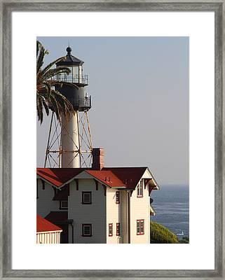 Point Loma California Lighthouse Framed Print by Mark Steven Burhart