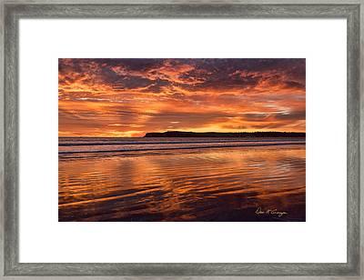 Point Loma Fire Framed Print