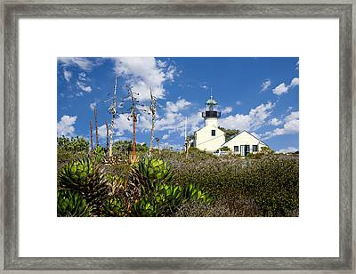 Point Loma Lighthouse Framed Print by Kelley King