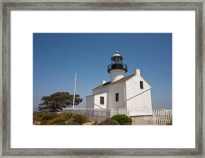 Point Loma Lighthouse Framed Print by Russell Christie