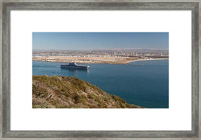 Framed Print featuring the photograph Point Loma Looking Toward San Diego by Scott Rackers
