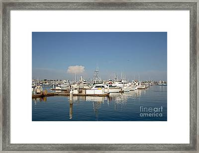 Point Loma Marina Framed Print by Russell Christie