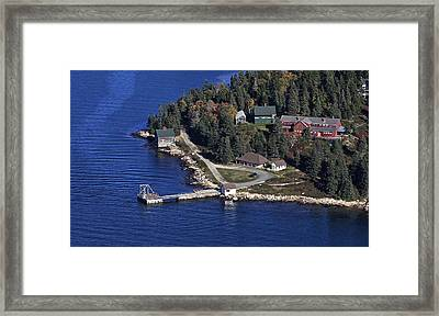Point Lookout, At The Isle Of Haut Framed Print by Dave Cleaveland