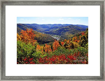 Point Mountain Overlook In Autumn Framed Print by Thomas R Fletcher
