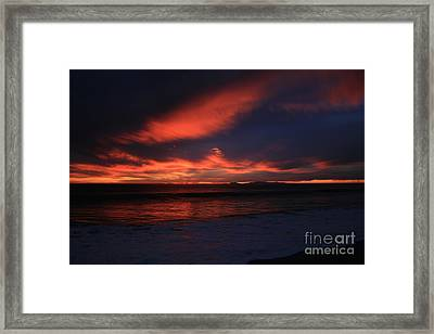 Point Mugu 1-9-10 Just After Sunset Framed Print