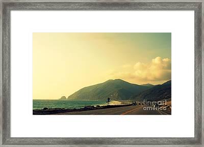 Point Mugu In California Framed Print by Susanne Van Hulst