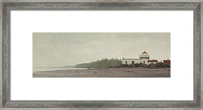 Point No Point Lighthouse Framed Print