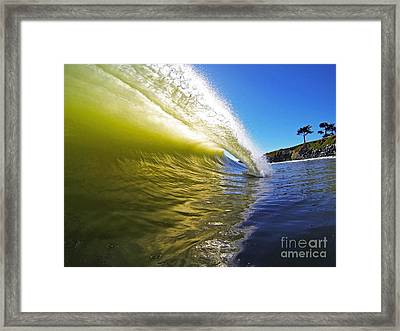 Point Of Contact Framed Print by Paul Topp
