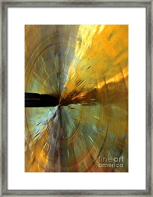Point Of Impact In Copper And Green Framed Print