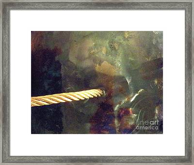 Point Of Insertion Framed Print