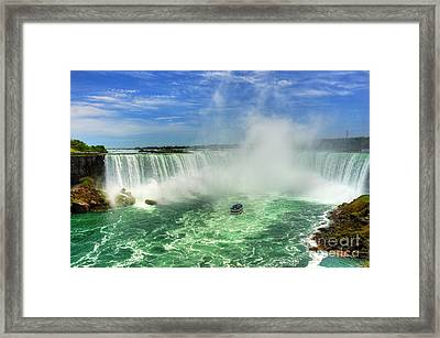 Point Of Land Cut In Two.. Framed Print
