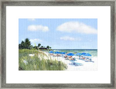 Point Of Rocks On Siesta Key Framed Print