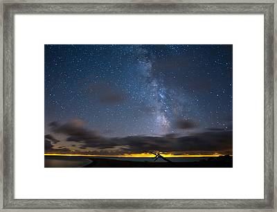 Point Pelee Milky Way Framed Print by Cale Best