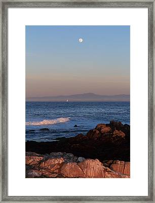 Framed Print featuring the photograph Point Pinos At Dusk by Scott Rackers