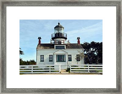 Point Pinos Lighthouse Framed Print by Barbara Snyder