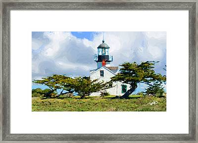 Point Pinos Lighthouse - Pacific Grove Ca Framed Print