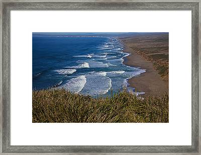 Point Reyes Beach Seashore Framed Print by Garry Gay
