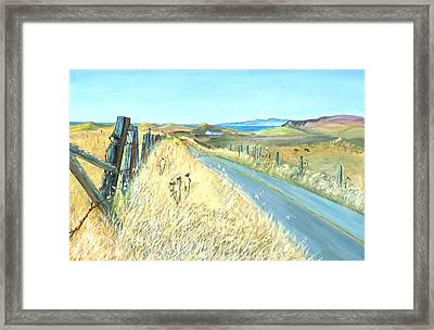 Framed Print featuring the painting Point Reyes Country Road by Asha Carolyn Young