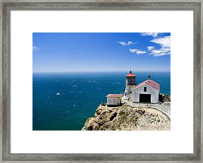 Point Reyes Lighthouse California Framed Print by Yulia Kazansky