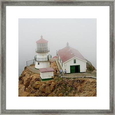 Point Reyes Lighthouse Framed Print by Art Block Collections