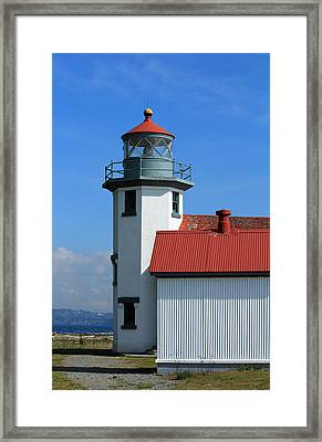 Framed Print featuring the photograph Point Robinson Light House by E Faithe Lester