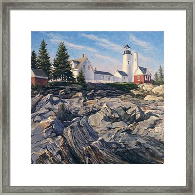 Point Rocks Framed Print by Will Kefauver