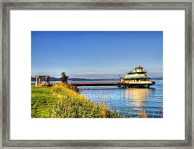 Point Ruston Ship Framed Print