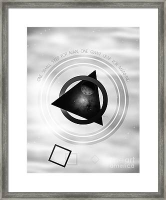 Point To The Moon Framed Print by Phil Perkins