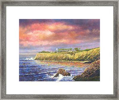Point Vicente Lighthouse Framed Print by Douglas Castleman