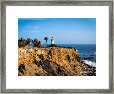 Framed Print featuring the photograph Point Vicente Lighthouse by Eleanor Abramson