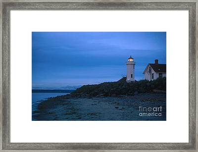 Point Wilson Lighthouse Framed Print by Bruce Roberts