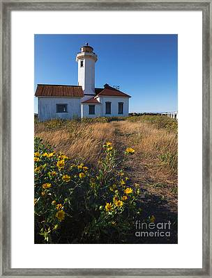 Point Wilson Lighthouse Framed Print by Mike  Dawson