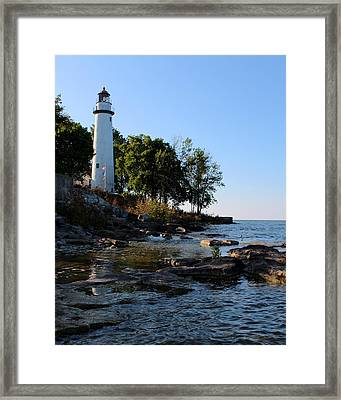 Pointe Aux Barques Lighthouse 1 Framed Print