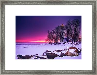 Pointe Aux Barques Lighthouse II Framed Print