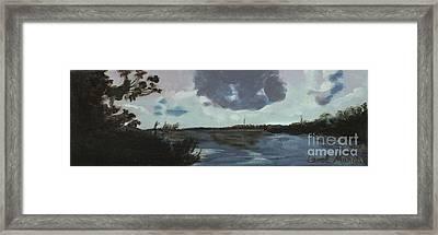 Pointe Of Chein Blue Skies Framed Print