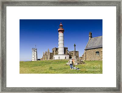 Pointe Saint Mathieu Brittany France Framed Print by Colin and Linda McKie