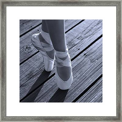 Pointe Shoes Bw Framed Print