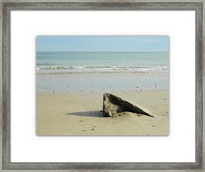 Pointed Rock At Squibby Framed Print by Kathy Barney
