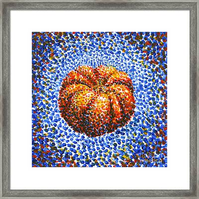 Pointillism Pumpkin Framed Print by Samantha Geernaert