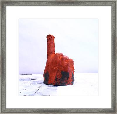 Pointing Finger Of Blame - Lava Framed Print by Mark M  Mellon