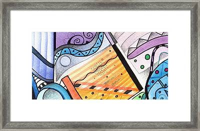 Points Lines And Circles Framed Print by Helena Tiainen