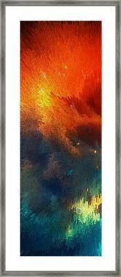 Points Of Light Abstract Art By Sharon Cummings Framed Print