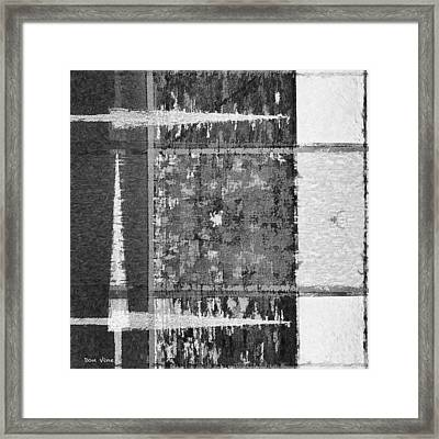 Points To White  Bw Framed Print