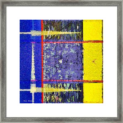Points To Yellow Framed Print