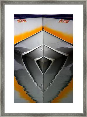 Pointy End Reflection Framed Print