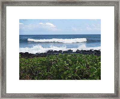 Framed Print featuring the photograph Po'ipu by Alohi Fujimoto