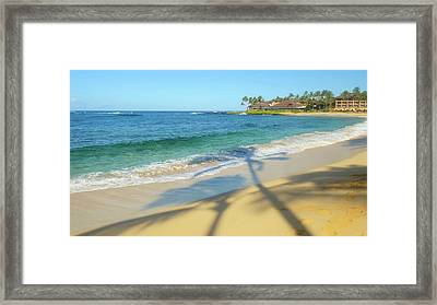 Poipu Beach, Kauai, Hawaii Framed Print by Douglas Peebles