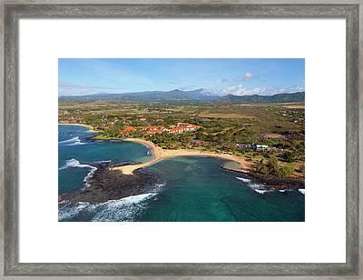 Poipu Beach Park, Kauai, Hawaii Framed Print by Douglas Peebles