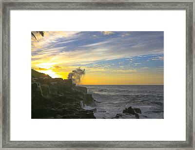 Poipu Kauai Sunrise Framed Print by Sam Amato
